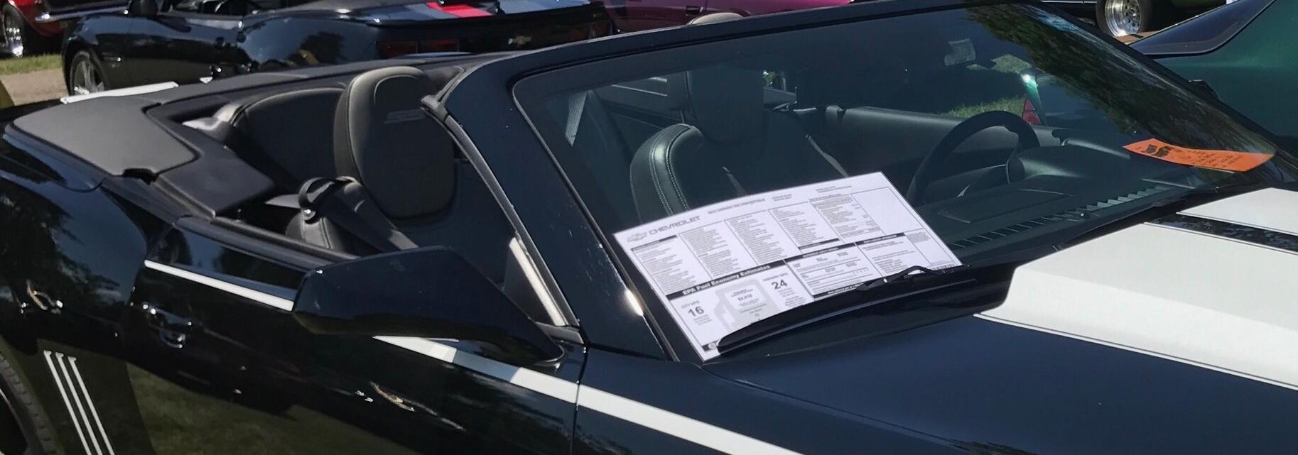 car dealer window stickers